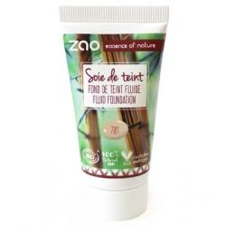 Zao Recharge de Soie de Teint 701 Ivoire  30ml produit de maquillage pour le visage Les Copines Bio