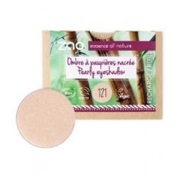 Zao Recharge ombre à Paupières 121 Ivoire lumière nacré 3g produit de maquillage biologique Les Copines Bio