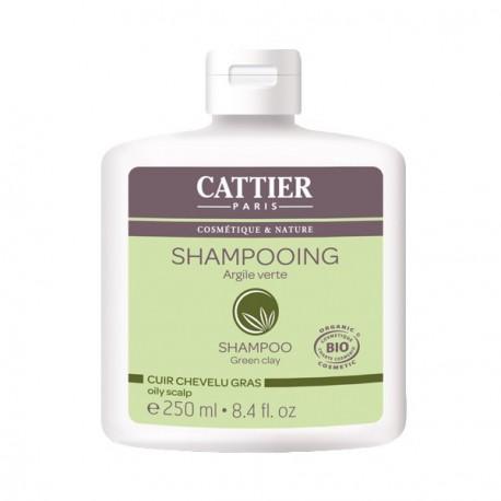 Shampooing argile verte pour cheveux gras 250ml - Cattier Les Copines Bio