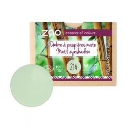 Zao Recharge ombre à Paupières 214 Vert d'eau mat 3g produit de maquillage bio ecologique Les Copines Bio