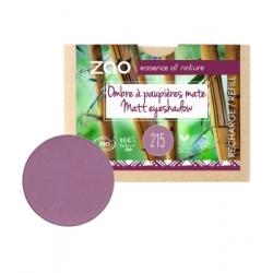 Zao Recharge ombre à Paupières 215 Violet poupre mat 3g produit de maquillage bio Les Copines Bio