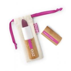 Zao  Rouge à lèvres Soft Touch 437 Aubergine 3.5gr produit de maquillage des lèvres bio Les Copines Bio