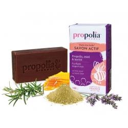 Propolia Savon Actif Propolis Miel Karité  100g produit d'hygiène pour le corps Les Copines Bio