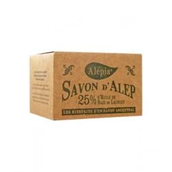 Alepia Savon d'Alep 25% Laurier 190gr produit d'hygiène pour le corps Les Copines Bio
