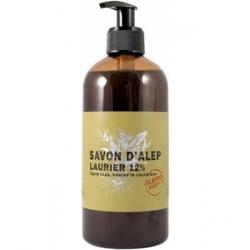 Tade Savon d'Alep Liquide 12 % Laurier Et Olive avec pompe 500ml produit d'hygiène pour le corps Les Copines Bio