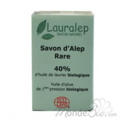 Lauralep Savon d'Alep Rare 40% huile de Laurier  150g produit de nettoyage pour le corps Les Copines Bio