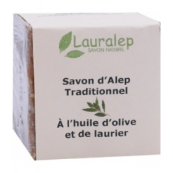 Lauralep Savon d'Alep Traditionnel 200.0gr produit d'hygiène pour la douche et le bain Les Copines Bio