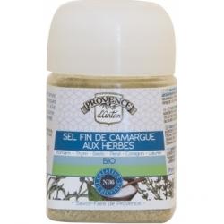 Provence D'Antan Sel fin de Camargue aux Herbes pot végétal bio 90gr produit alimentaire - condiment Les Copines Bio