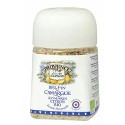 Provence D'Antan Sel Fin de Camargue Romarin Citron pot végétal biodégradable 80gr produit alimentaire - condiment Les Copines B