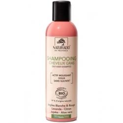 Naturado Shampoing cheveux gras sans sulfate 200ml produit d'hygiène pour les cheveux Les Copines Bio