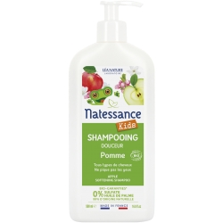 Natessance Shampoing douche Kids Pomme ne pique pas les yeux  500ml produit d'hygiène pour enfant Les Copines Bio