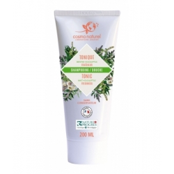 Cosmo Naturel Shampoing douche Tonique 2 en 1 Menthe poivrée Eucalyptus Verveine 200ml produit d'hygiène pour le corps et les ch