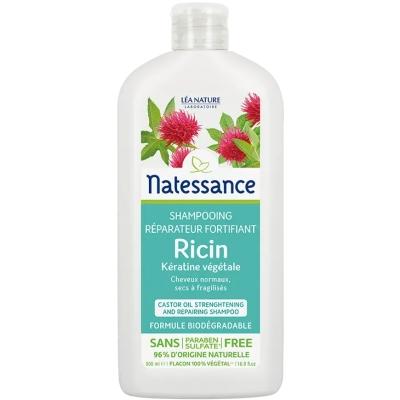 Natessance Shampoing réparateur et fortifiant Ricin et Kératine végétale  500ml produit d'hygiène pour les cheveux Les Copines B