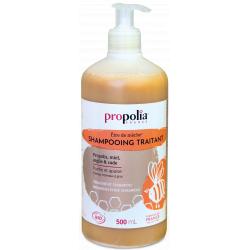Propolia Shampoing Traitant Bio Propolis Miel Argile et Cade 500ml produit de soin capillaire Les Copines Bio