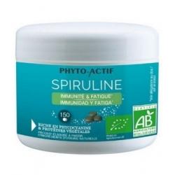 Phyto-actif Spiruline bio 100 pour centnaturelle Immunité Fatigue 150 comprimés complément alimentaire Les Copines Bio