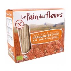 Le pain des fleurs Tartines craquantes au quinoa  150g produit d'alimentation Les Copines Bio