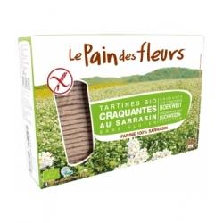 Le Pain Des Fleurs Tartines craquantes au Sarrasin 300gr produit alimentaire santé Les Copines Bio