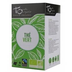 Touch Organic Thé vert BIO sachets  24 sachets produit d'alimentation Les Copines Bio