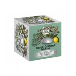 Provence D'Antan Tisane cube Digestive bio Boite métal 24 sachets produit pour la préparation de tisanes Les Copines Bio