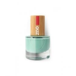Zao Vernis à ongles 660 Vert d'eau 8ml produit de maquillage biologique Les Copines Bio