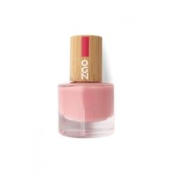 Zao Vernis à ongles 662 Rose pourdré  8ml produit de maquillage biologique Les Copines Bio