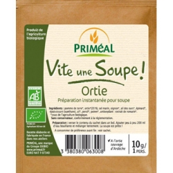 Primeal Vite une soupe Ortie sauvage d'Ardèche sachet individuel  10g produit d'alimentation Les Copines Bio
