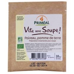 Primeal Vite une soupe Poireaux Pomme de terre sachet individuel  10g produit d'alimentation Les Copines Bio