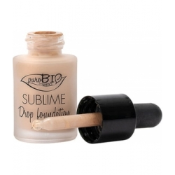 Purobio Cosmetics Fond de teint liquide 01 Sublime Drop 19g 0.019 gr produit de maquillage du teint Les Copines Bio