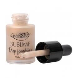 Purobio Cosmetics Fond de Teint liquide 02 Sublime Drop 19g 19.0gr produit de maquillage minéral pour le Teint Les Copines Bio
