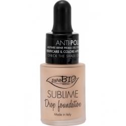 Purobio Cosmetics Fond de Teint liquide 00 Sublime Drop 19g 19.0gr produit de maquillage minéral pour le Teint Les Copines Bio