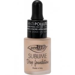 Purobio Cosmetics Fond de Teint liquide 01 Y Sublime Drop 19g 19.0gr produit de maquillage minéral pour le Teint Les Copines Bio