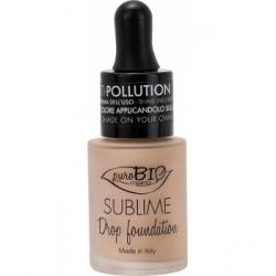 Purobio Cosmetics Fond de Teint liquide 02 Y Sublime Drop 19g 19.0gr produit de maquillage minéral pour le Teint Les Copines Bio