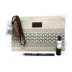 Purobio Cosmetics Trousse géométrique (rouge à lèvres no14 + crayon à lèvres no47) 4.0gr produit de maquillage des lèvres bio Le