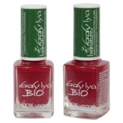 LadyLya Bio Vernis à Ongles Rouge laqué 12ml 12.0ml Produit de maquillage pour les ongles Les Copines Bio
