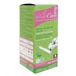 Silvercare Tampon en coton Bio Flux léger avec applicateur 200.0gr produit d'hygiène féminine Les Copines Bio