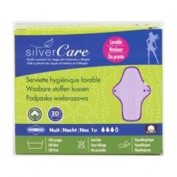 Silvercare Serviette nuit lavable 0.0 ml produit d'hygiène féminine Les Copines Bio