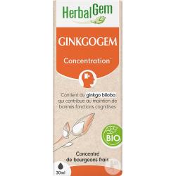 Herbalgem  Ginkgogem Bio Flacon compte gouttes 50ml Complément alimentaire Les Copines Bio
