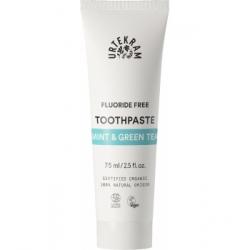 Urtekram Dentifrice Thé vert Menthe sans fluor 75ml  produit de soins bucco-dentaires Les Copines Bio