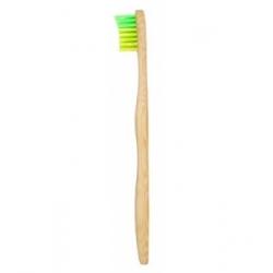 Ola Bamboo Brosse à dents Enfant Vert  / Jaune Souple produit d'hygiène bucco-dentaire Enfants Les Copines Bio