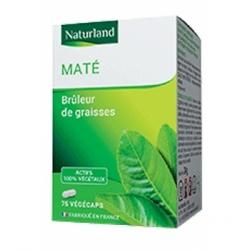 Naturland Maté Vert 75 Gélules Végécaps  Complément alimentaire Les Copines Bio