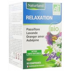 Naturland Passiflore Lavande Oranger Aubépine Bio 90 comprimés  Complément alimentaire Les Copines Bio