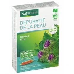 Naturland Dépuratif pour la peau Bardane Ortie Bio 20 AMPOULES de 10ml  Complément alimentaire Les Copines Bio