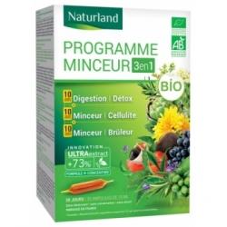 Naturland Programme Minceur Bio Lot de 3 boites de 10 ampoules Naturland  complément alimentaire Les Copines Bio