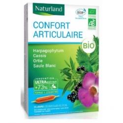 Naturland confort articulaire Harpagophytum Cassis Ortie Saule blanc Bio ampoules 20x10ml  Complément alimentaire Les Copines Bi