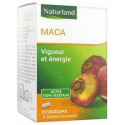 Naturland Maca 75 Gélules Végécaps  Complément alimentaire Les Copines Bio