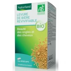 Naturland Levure de bière revivifiable bio 150 gélules 79.0 gr complément alimentaire Les Copines Bio