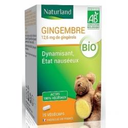 Naturland Gingembre 75 gélules végécaps  Complément alimentaire Les Copines Bio