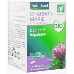 Naturland Chardon Marie bio 75 gélules végétales Complément alimentaire Les Copines Bio