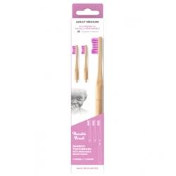 Humble Brush Manche Brosse à dents et 3 têtes interchangeable adultes violet Soft  produit d'hygiène bucco-dentaire Les