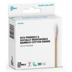 Humble Brush Cotons tiges naturels bambou Blanc x100 produit à base de Coton biologique Les Copines Bio